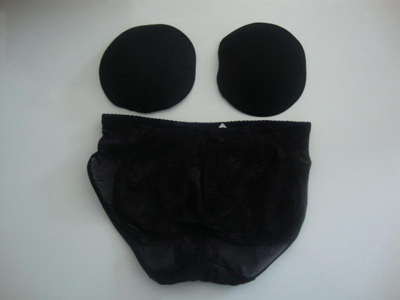 Slip ampliforme noirs avec mousse réf: CCN-001